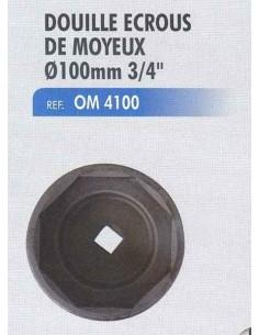 Douille écrou moyeu SCANIA 8 pans diamètre 100 mm 3/4 pouce
