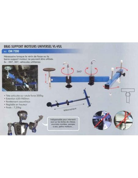 Bras telescopique support moteurs universel VL /VUL (largeur 630 a 960 mm)