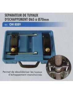 Separateur tuyaux d echappement manchonnes diametre 65 a 70mm