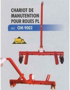Chariot de manutention roues poids lourds