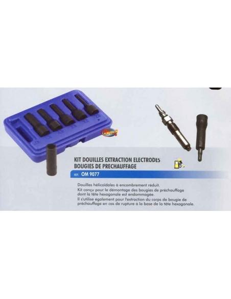 Kit douilles extraction electrodes bougies de prechauffage
