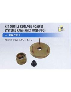 Kit outils reglage pompes injection systeme ram RENAULT F8QT-F9Q moteur 1.9 DTI et TD