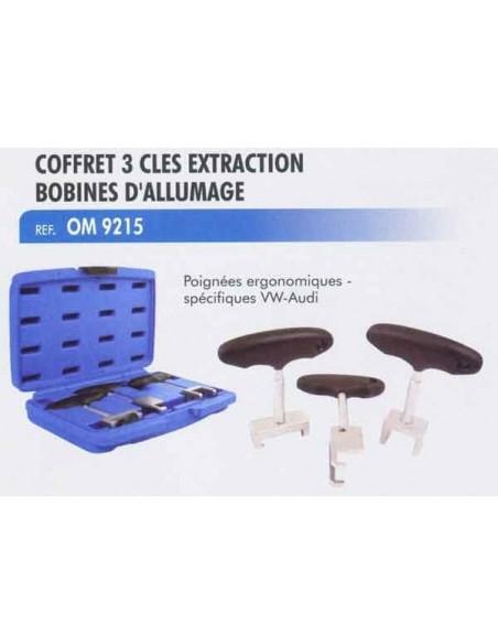 Coffret 3 cles extraction bobines d allumage moteur VOLKSWAGEN / AUDI