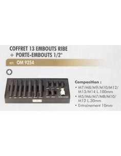 Embouts a choc male ribe (longs 100 mm/courts 30 mm) avec porte