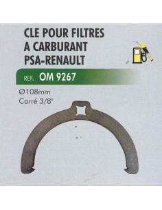 "CLE filtres carburant PSA (PEUGEOT/CITROEN)-RENAULT diametre 108 mm Carre 3/8"""