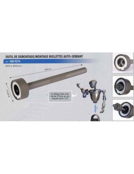 Outil de demontage/montage biellettes auto-serrants diametre 35 a 45 mm