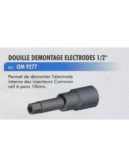 Douille demontage electrodes injecteur 1/2 pouce 10 mm 6 pans