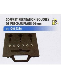 Coffret reparation bougies de prechauffage diametre 9 mm moteur diesel