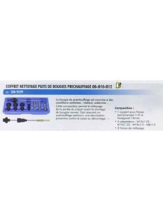 Coffret nettoyage puits de bougies prechauffage diametre 8 a 10 a 12