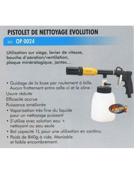 Pistolet de nettoyage pneumatique buse 300 mm (Reglage debit air et jet)