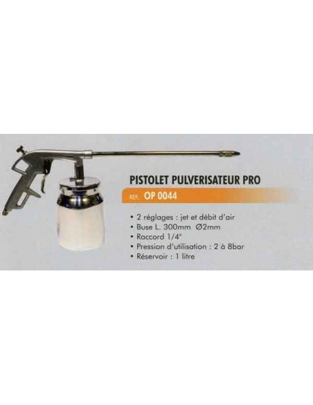 Pistolet pulverisateur professionnel buse Long 300 mm