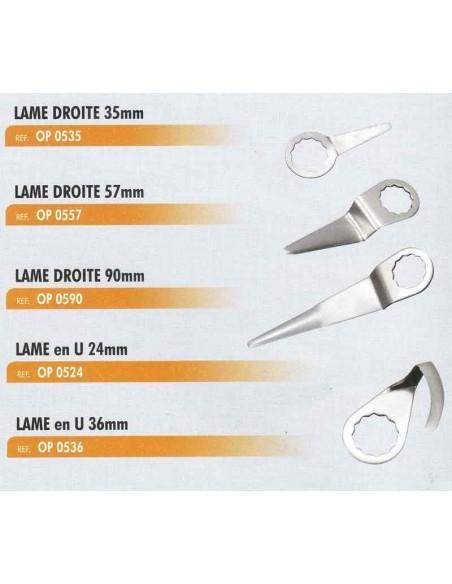 Lame droite 35 mm couteau pneumatique a lames interchangeables