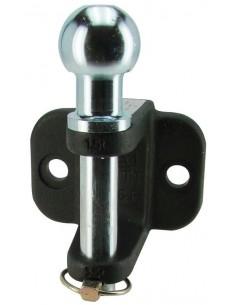Crochet attelage 1.5 T mixte Boule 50 mm démontable avec axe verticale 25 mm fixation 2 trous 17 mm