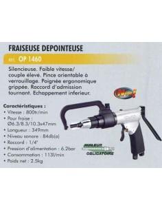 Fraiseuse depointeuse pneumatique 800 trs/Mn (fraise 6.3/83/10.3x47 mm)