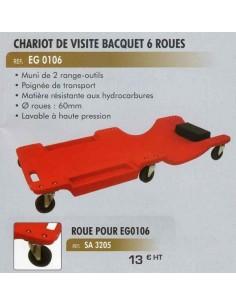 Roulette de rechange chariot de visite CL-EG-0106