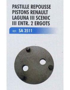 Pastille repousse piston etrier frein RENAULT Laguna III/ Scenic III 3 ergots
