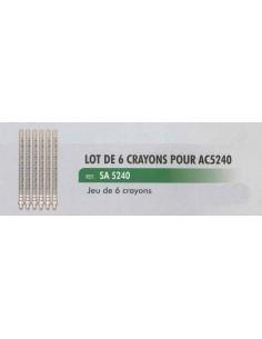 Crayons verres gradues coffret de controle de retour d injecteur CL-AC-5240 (6 pieces)