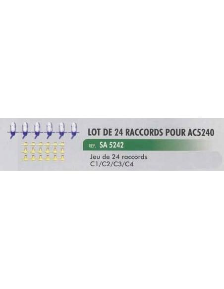 Lot de 24 raccords coffret de controle de retour d injecteur CL-AC-5240