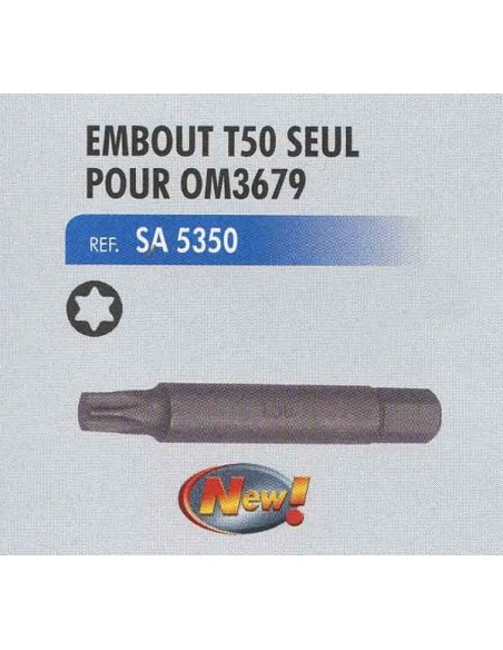 Embout torx t50 seul coffret de demontage alternateur CL-OM-3679