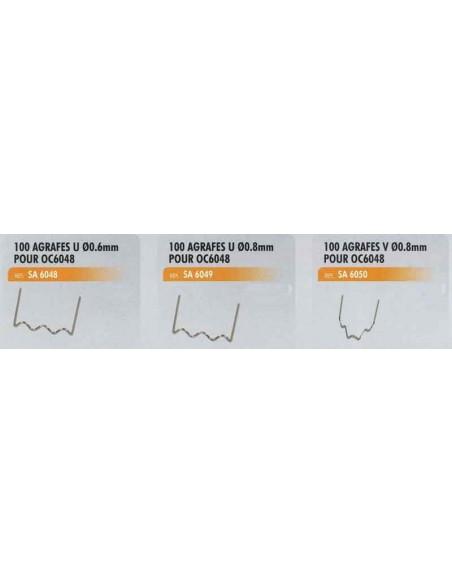 100 agrafes v diametre 0.8 mm agrafeuse thermique de reparation plastique CL-OC-6048