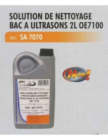 Solution nettoyage bac ultrasons CL-OE-7100 (bidon 2 litres)