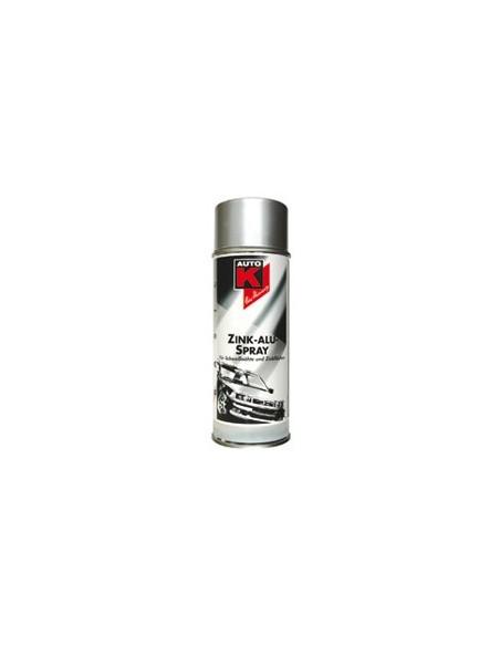 Appret anti corrosion zinc-alu Auto-K pour carrosserie et toles exposees aux intemperies (Aerosol 400 ml)