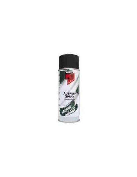 Vernis haute temperature Auto-K echappement Coloris Noir 650 Degres / Argent 800 Degres (Aerosol 400 ml)