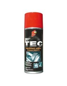 Lubrifiant Graisse Blanche Auto K Spraytec hydrofuge et anti corrosion (Utilisable jusqu'a 120 degrés C) (Aérosol 400 ml)