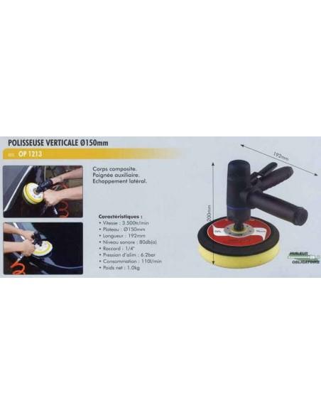 Polisseuse pneumatique verticale D 150mm pneumatique