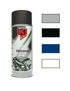 Peinture resistante a Haute temperature 650 degres coloris argent / noir / blanc / bleu (Spray 400 ml)