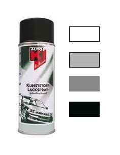 Peinture carrosserie plastique coloris blanc / gris / anthracite / noir / pierre a fusil / gris fonce (Aerosol 400 ml)
