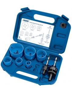 Scies cloche découpe circulaires 22 a 64 mm avec accessoires (Coffret 6 scies cloches)
