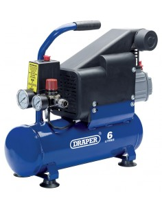 Mini compresseur 230V moteur 0.75kW lubrifié huile reservoir 6 litres