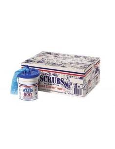 chiffons de nettoyage imprégnés Scrubs pot distributeur 72 pièces