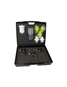 Kit 3 pistolet a peinture FINIXA avec accessoires