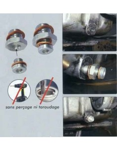 Reparation sans percage bouchon vidange carter huile moteur M22x1.5 PSA - FIAT